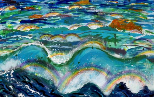 Kyungok Yoo/Thousand Rainbow/28x35/Oil