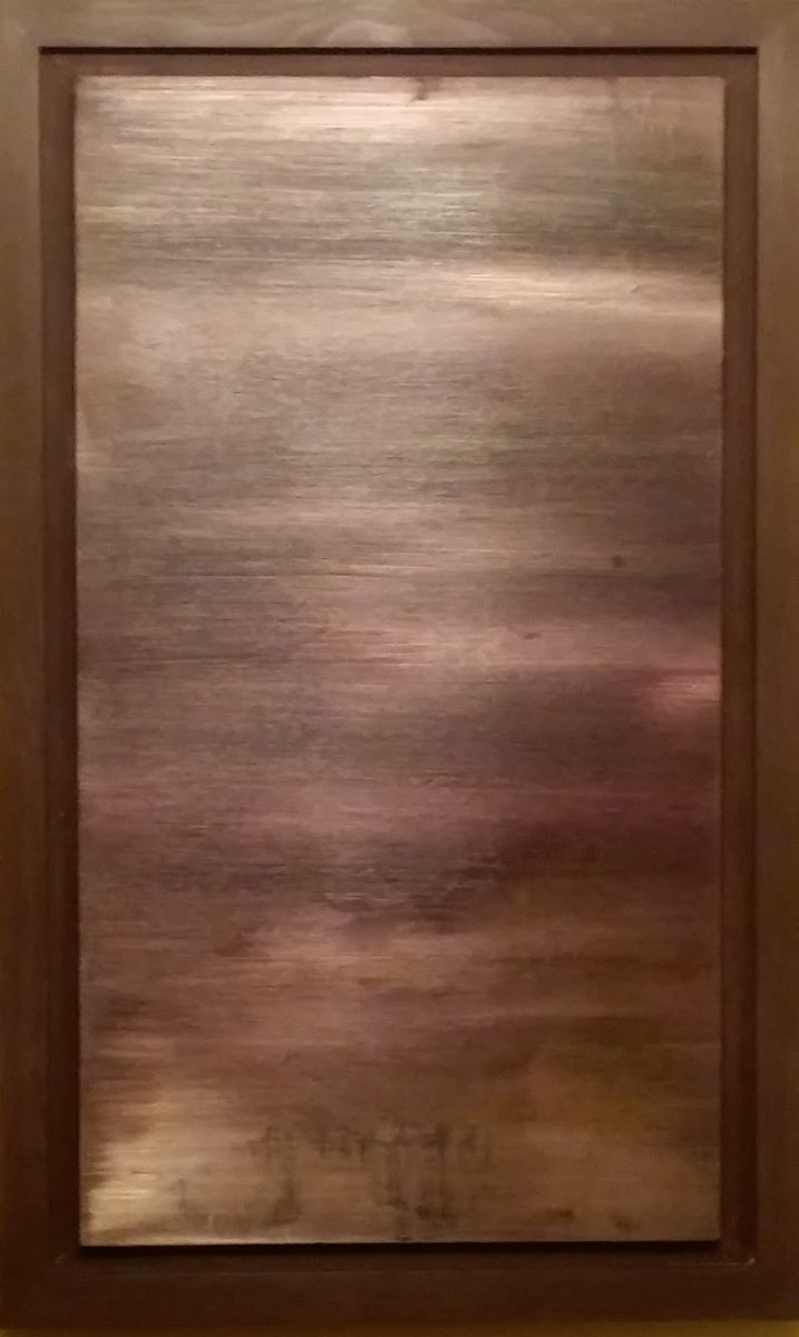 Untitled, Size; 25x 40.7 inches Medium; oil painting on wood