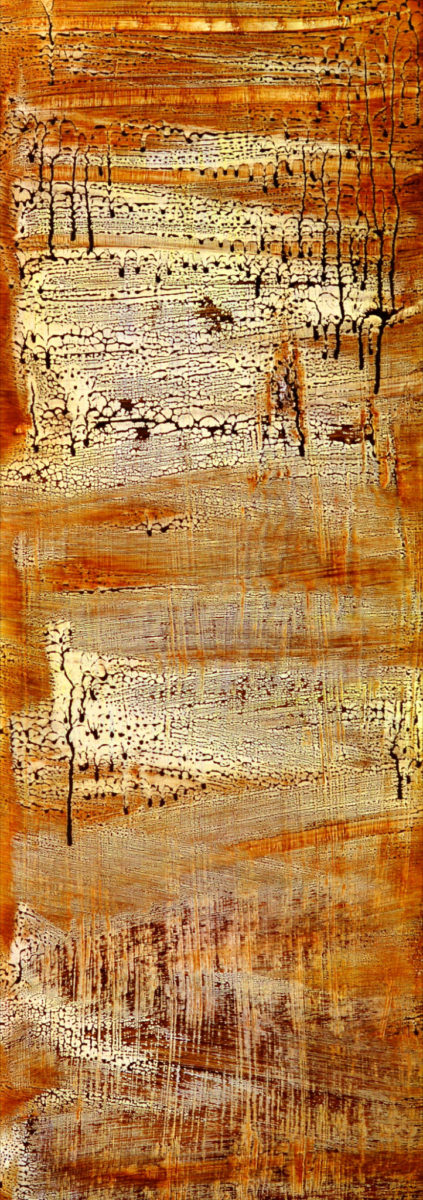 Untitled, Size; 18x 45 inches Medium; oil painting on wood