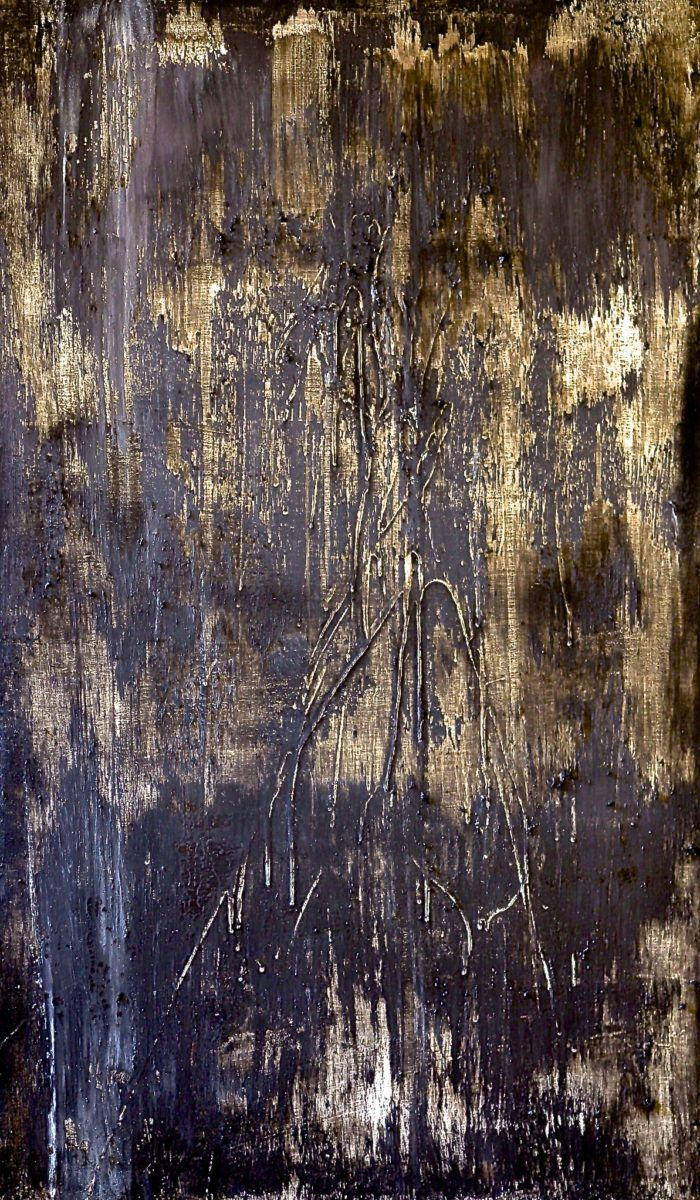 Untitled, Size; 31 x 50.5 inches Medium; oil painting on wood